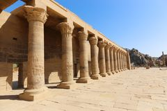Isis寺庙-菲莱寺庙,埃及 免版税库存照片