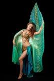 isis танцора живота представляя крыла молодые Стоковое Фото