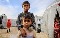 叙利亚:ISIS攻击的受害者 图库摄影