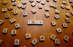 Isis-bokstäver Royaltyfri Bild