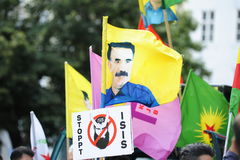 Isis-demonstration mot terrorism i Irak Royaltyfri Fotografi