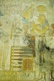 Isis i antyczny Osiris cyzelowanie, Abydos Zdjęcia Royalty Free