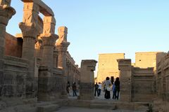 Isis Philae świątynia obrazy stock