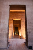 Isis temple. Inside the great pylon and the path towards the birth house royalty free stock photo