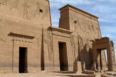 Isis Temple of Philae in Egypt stock photos