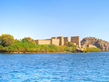 Isis Temple at Philae Island Stock Image