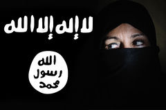ISIS woman fighter's Royalty Free Stock Photo