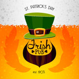 Isish Pub Poster Stock Photography
