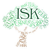 Isk Currency Means Foreign Exchange And Coinage. Isk Currency Representing Icelandic Krona And Broker Stock Image