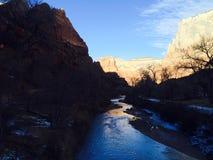 Iskall kanjon Royaltyfria Bilder