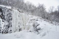 Iskall och snöig vinterplats Fotografering för Bildbyråer