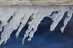 Iskall vinter i Mecklenburg-Vorpommern, nord av Tyskland royaltyfria bilder