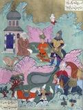 Iskandar habla con el profeta Khizr Foto de archivo libre de regalías
