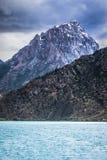 Iskander kul lake in rocky landscape in the Fan Mountains Stock Photos