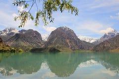 Iskanderkul湖,塔吉克斯坦 库存照片