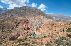 Iskanderkul в горах Fann, принятых в Таджикистан в августе 2018 принятый в hdr стоковое фото