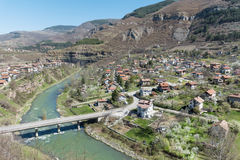 Iskar river in Bulgaria. Beautiful landscape from iskar gorge Royalty Free Stock Images