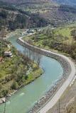 Iskar river in Bulgaria. Beautiful landscape from iskar gorge Stock Images