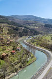 Iskar river in Bulgaria. Beautiful landscape from iskar gorge Stock Image