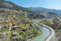 Iskar river in Bulgaria. Beautiful landscape from iskar gorge Stock Photos