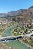 Iskar river in Bulgaria. Beautiful landscape from iskar gorge Royalty Free Stock Image