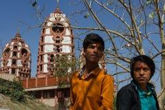 ISKCON Современная архитектура Индии Стоковые Изображения RF
