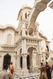 ISKCON Krishna Balarama temple in Vrindavan Royalty Free Stock Photo