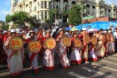 Iskcon Rath Yatra festival.Kolkata. Stock Photos
