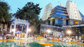 ISKCON Temple Bangalore. Bathing ceremony of Lord jagannath at Krishna temple Iskcon bangalore stock photo