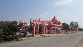Iskcontempel, Anantapur, Andhra Pradesh stock foto