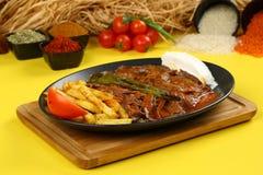 Iskender/турецкая традиционная еда Стоковая Фотография