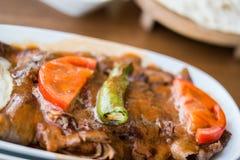 Iskender/türkisches traditionelles Lebensmittel Stockfotos