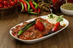 Iskender / Turkish Traditional Food. Ä°skender / Turkish Traditional Food made with meat, yoghurt and butter stock photos