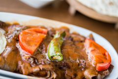 Iskender / Turkish Traditional Food Stock Photos