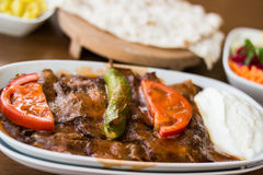 Iskender / Turkish Traditional Food Royalty Free Stock Photography