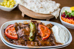 Iskender / Turkish Traditional Food Royalty Free Stock Photos