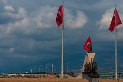 Iskenderun, Turkey, the main square and a monument Royalty Free Stock Photos