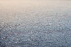 Iskristaller i vinter Royaltyfria Foton