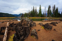 Iskry Oregon Jeziorny Środkowy pustkowie Zdjęcie Royalty Free