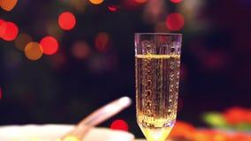 Iskry szampańscy bąble zbiory wideo
