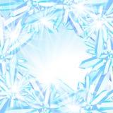 Iskrzaści lodowi kryształy Obrazy Royalty Free
