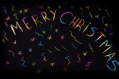 Iskrzasta inskrypcja & x22; Wesoło Christmas& x22; Fotografia Stock