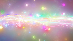 Iskrzaste graficzne cząsteczki i błyszczące linie Obraz Stock