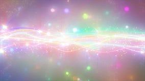Iskrzaste graficzne cząsteczki i błyszczące linie Zdjęcie Stock