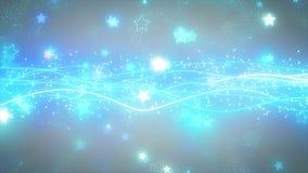 Iskrzaste graficzne cząsteczki i błyszczące linie Zdjęcia Royalty Free