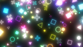 Iskrzaste graficzne cząsteczki Obrazy Stock