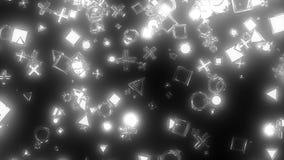 Iskrzaste graficzne cząsteczki Obraz Stock