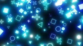 Iskrzaste graficzne cząsteczki Zdjęcie Stock