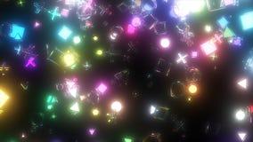 Iskrzaste graficzne cząsteczki Obraz Royalty Free