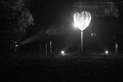 Iskrzastego serca kształtny krążyć Fotografia Royalty Free